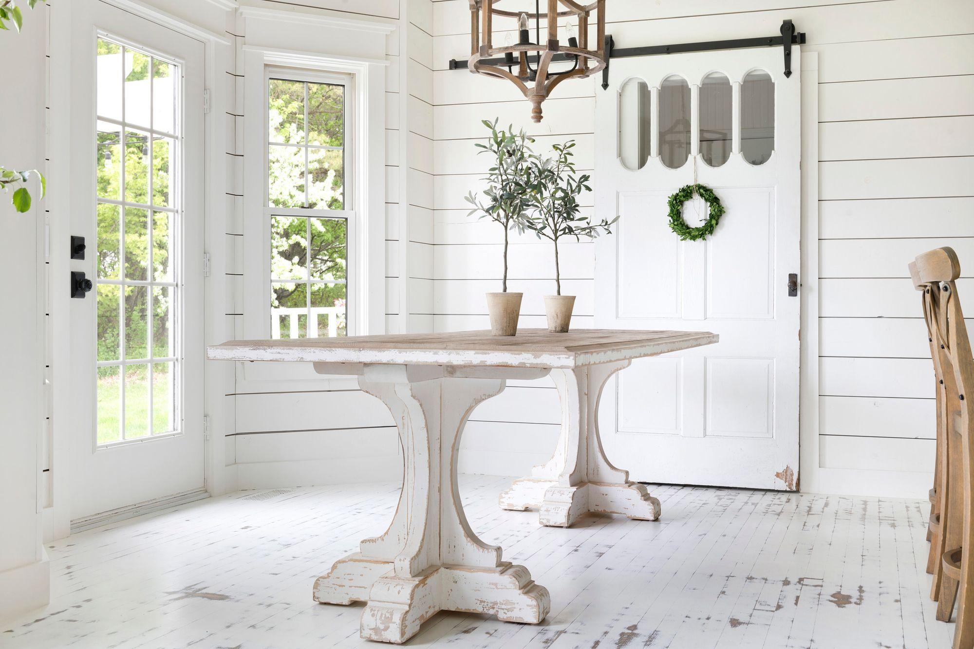 Lydia Farmhouse Table Farmhouse table, White farmhouse