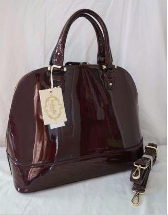 Isabella Vegan Burgundy Luxury Satchel/Cross Body Bag