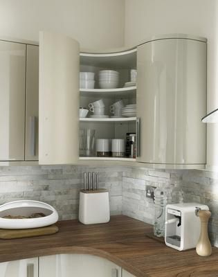 Kitchens Curved Kitchen White Kitchen Inspiration Kitchen Wall Cabinets