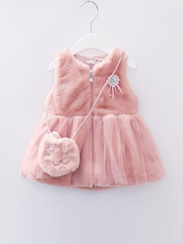 5d47bf77038 Ropa Para Niño · Trajes De Niñas · Faux fur vest for little girls
