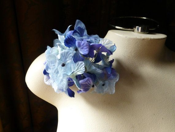 Blue hydrangea silk flowers for millinery bridal boutonnieres blue hydrangea silk flowers for millinery bridal boutonnieres floral design mf209 mightylinksfo Images