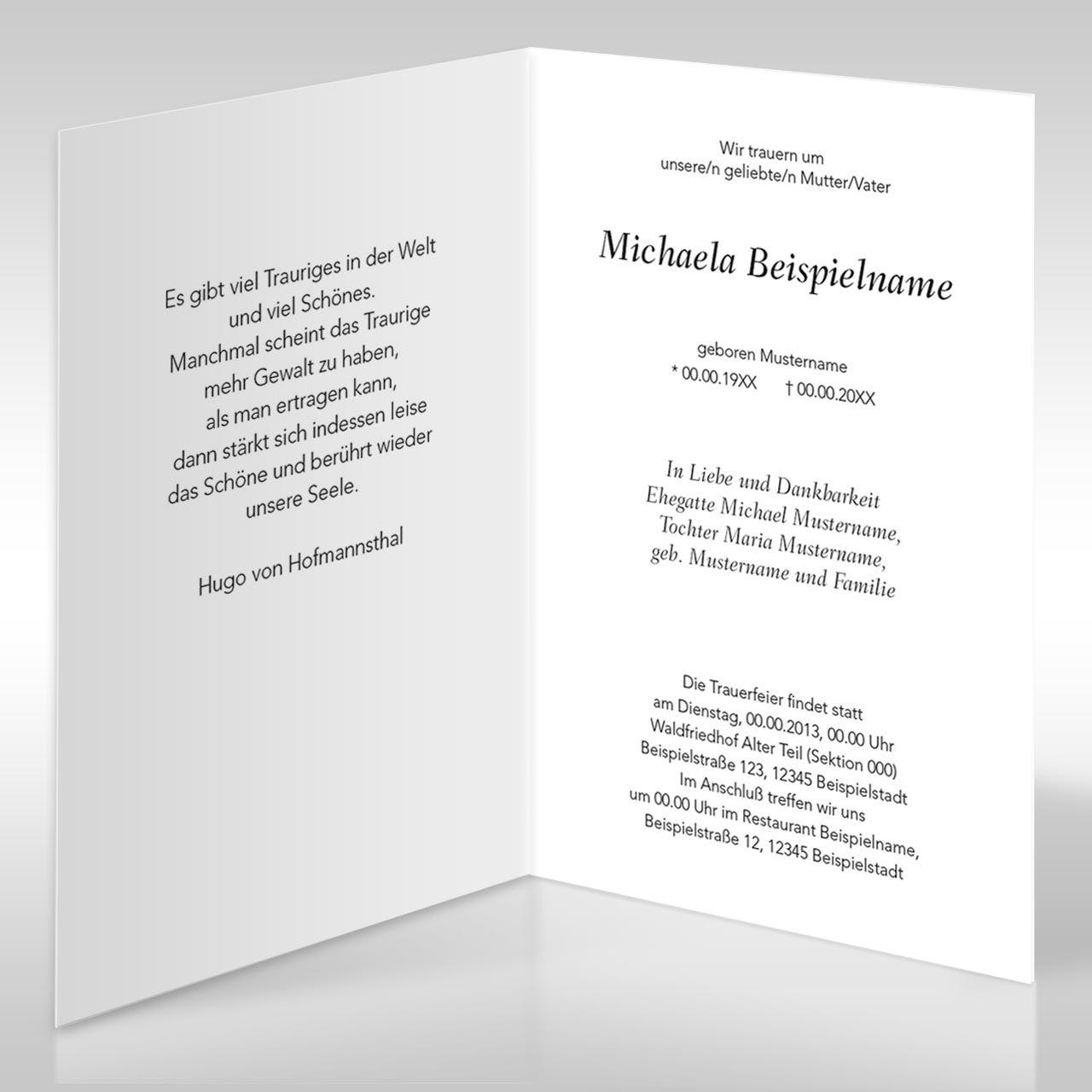 trauerkarte innen hoch 01jpg 12801280 - Natrliche Hickory Holzbden