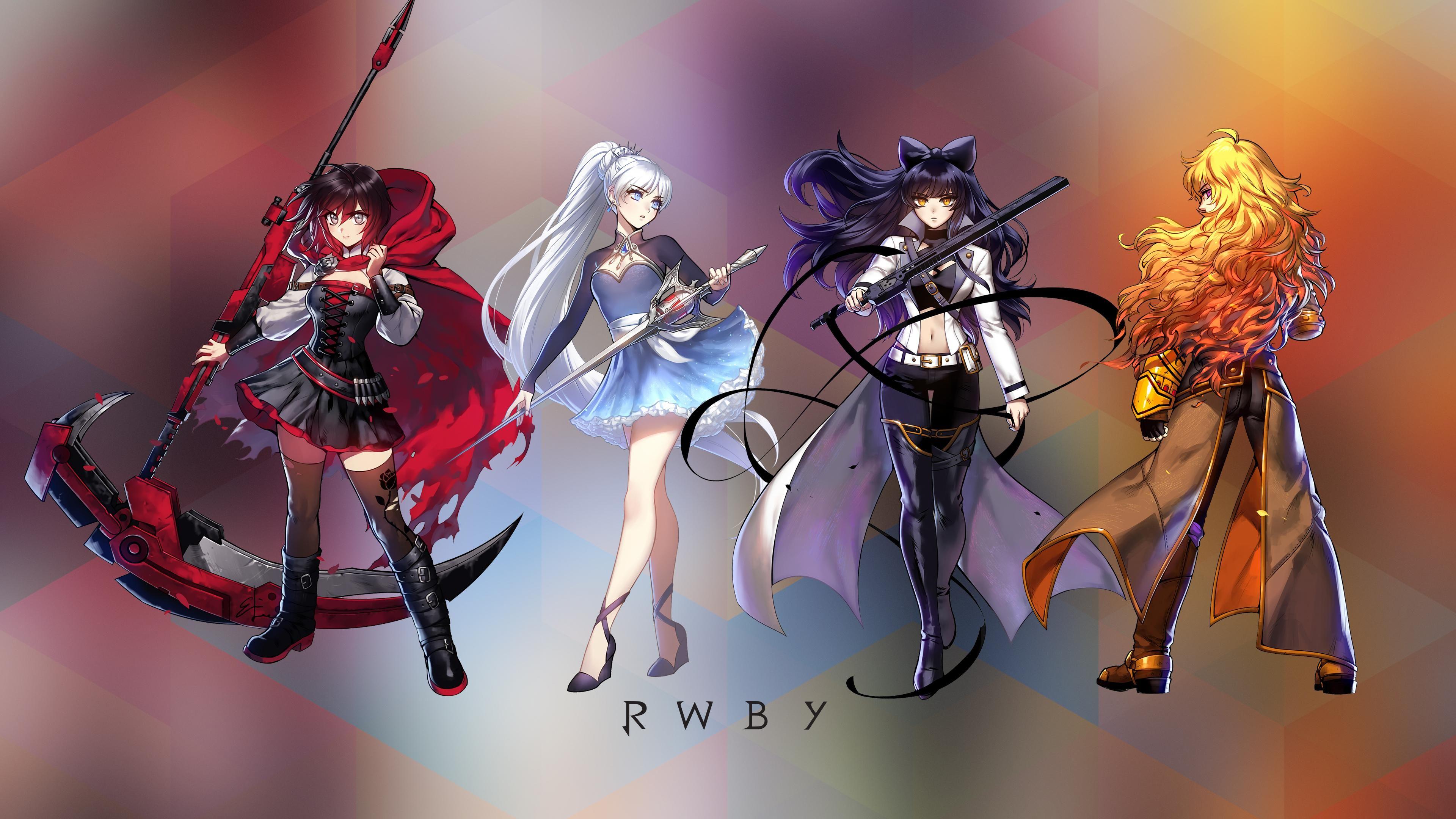 Rwby Team Rwby Rwby Wallpaper Rwby Rwby Yang