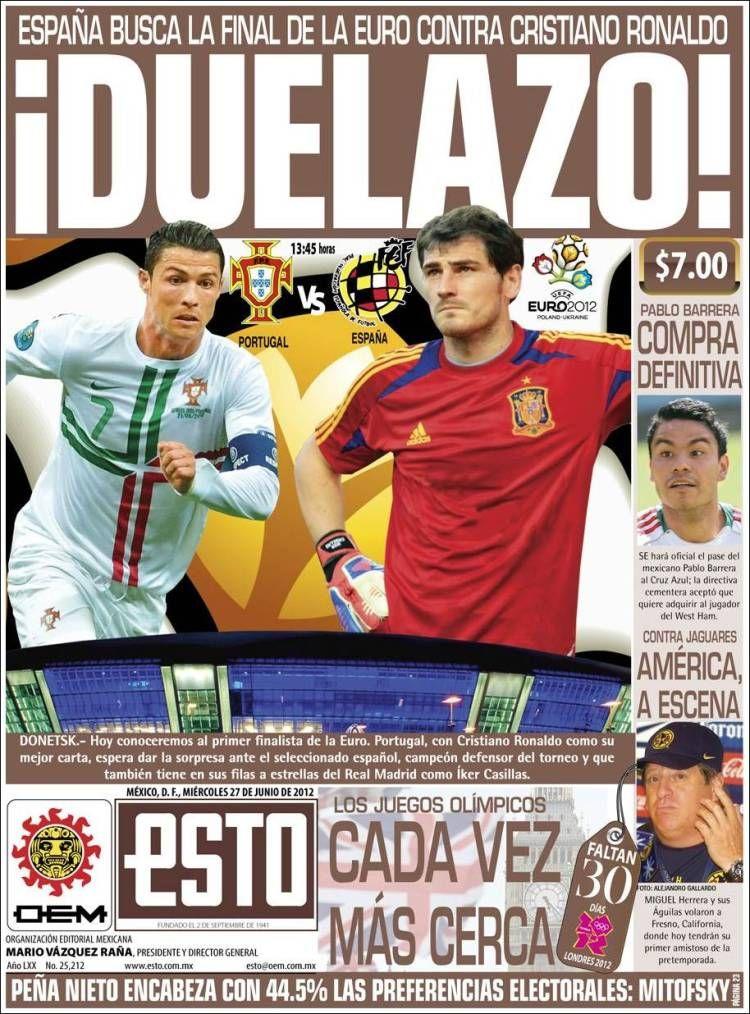 Prensa deportiva del 27 de junio 2012 | discutivo.com