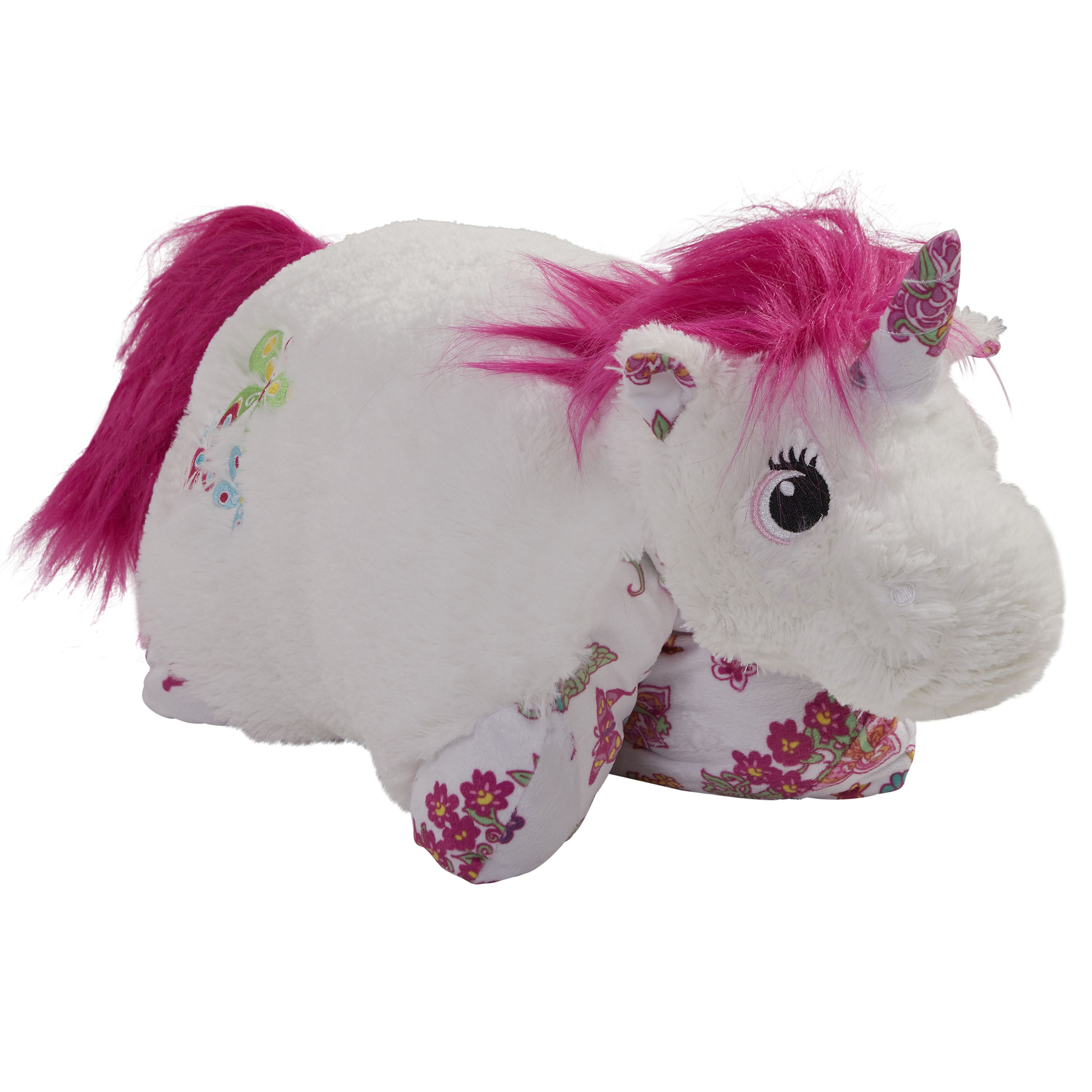 Colorful White Unicorn Pillow Pet With Images Unicorn Pillow