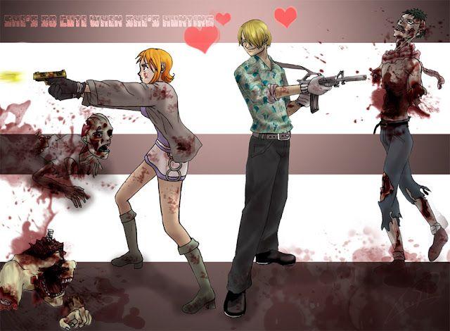 sanji nami vs zombies
