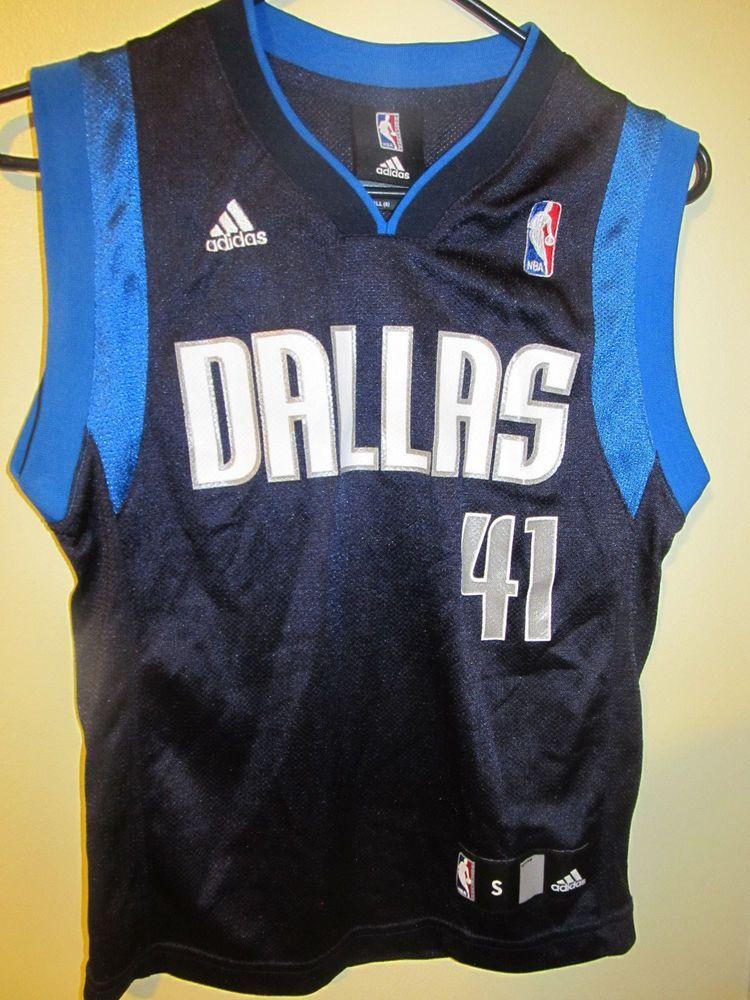 finest selection 47cc8 3518d Dirk Nowitzki - Dallas Mavericks jersey - Adidas youth Small ...