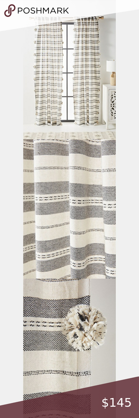 Anthropologie Pamela Curtains Set Of 2 50 X84 Curtains Curtain Sets Drapes Curtains
