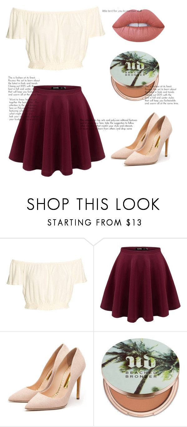 """Untitled #117"" by coral45 on Polyvore featuring Rupert Sanderson, Urban Decay and Lime Crime"