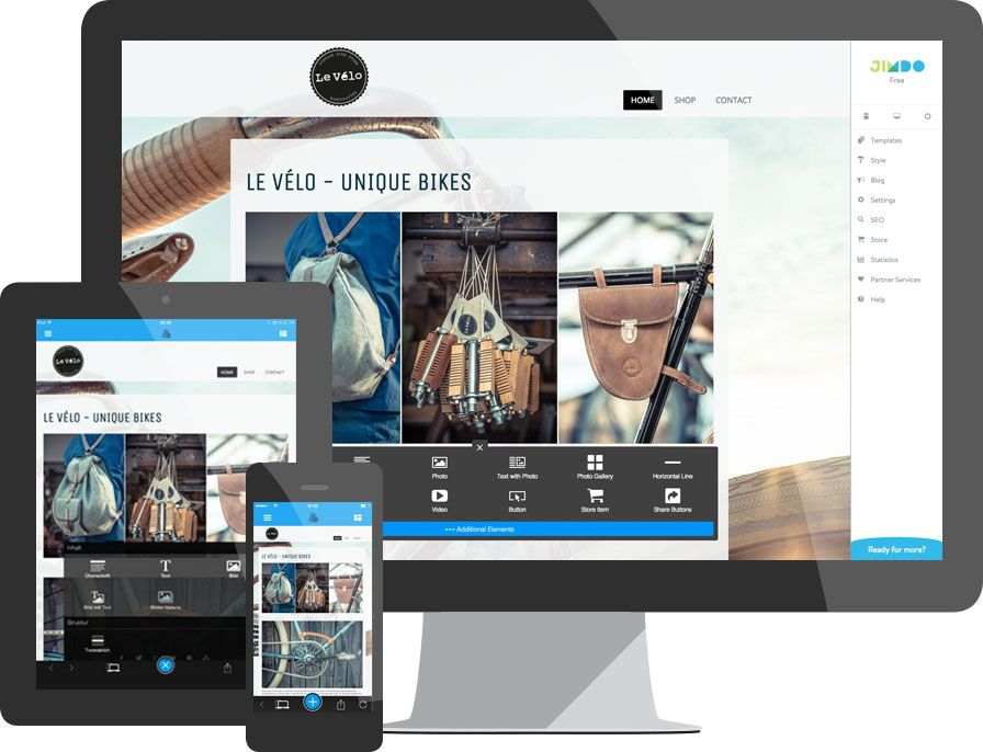 Creador de páginas web gratuito con edición en línea
