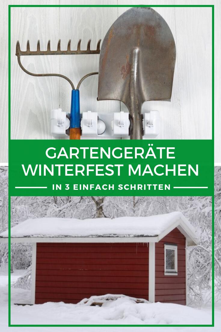 Gartengeräte winterfest machen in 3 einfachen Schritten