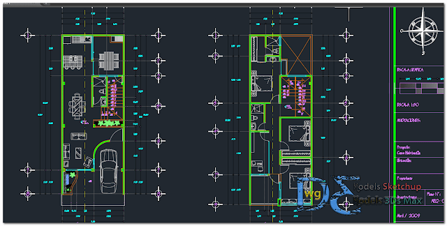 Storey House In Autocad Autocad House Architecture