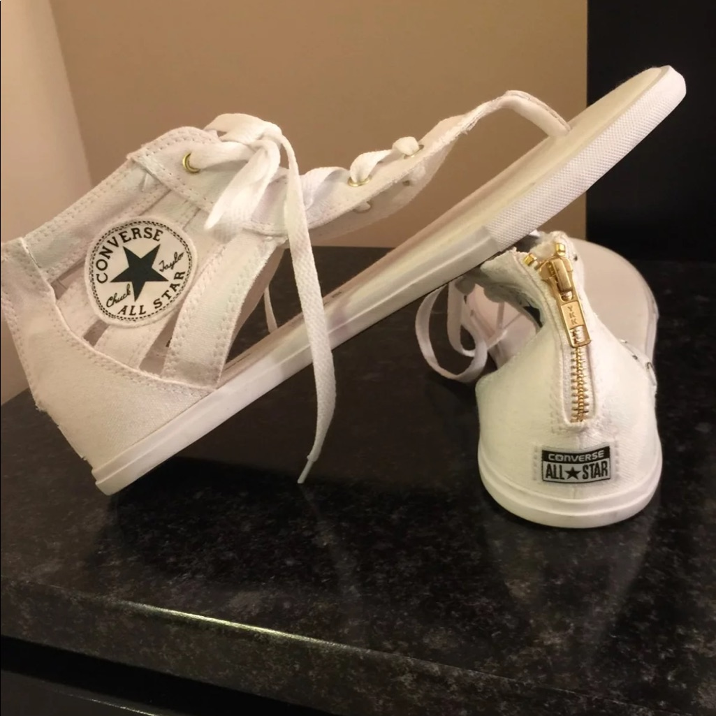 Converse Shoes | Brand New Rare White Converse Sandals