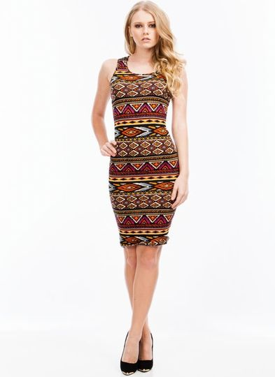 Going Tribal Bodycon Dress
