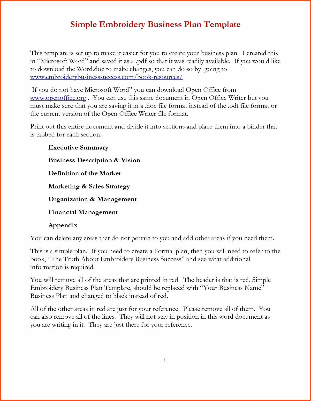 The amazing 018 Free Business Plan Sample Word Doc