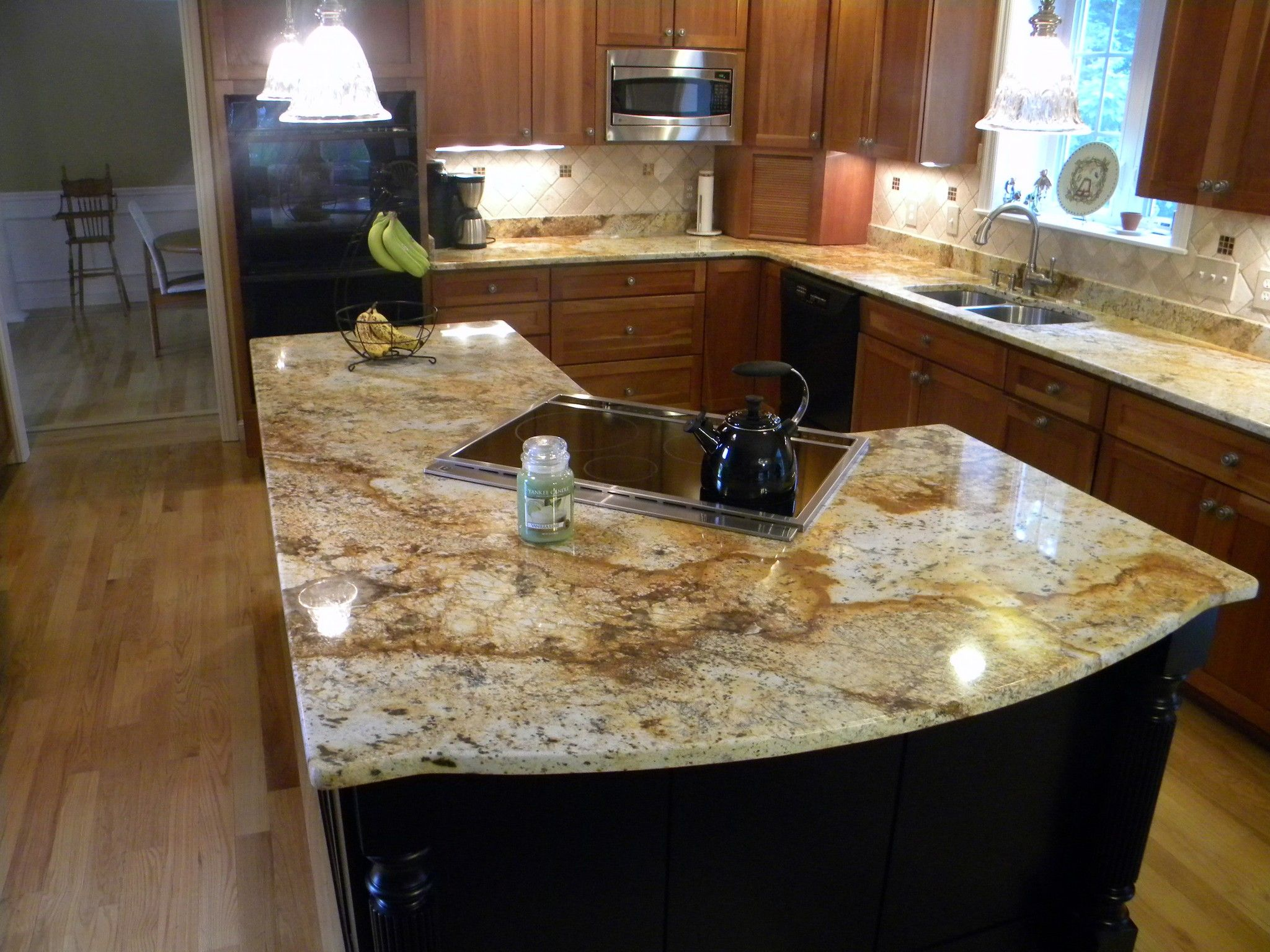 Pin By Olivia Bogle On Home Kitchen Cabinets And Countertops Green Bathroom Gold Granite Countertops