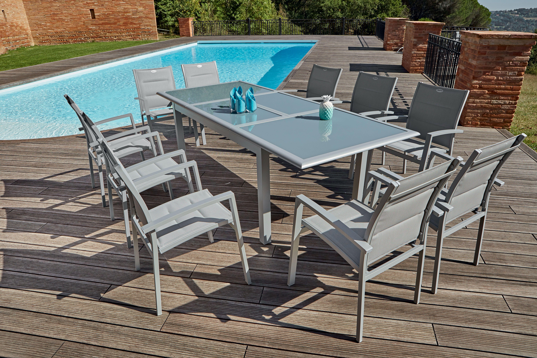 Table Extensible Plateau En Verre Centrakor Table Extensible Decoration Exterieur Plateau En Verre