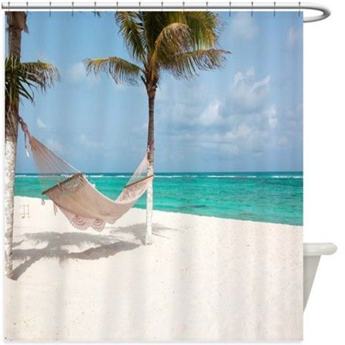 Beach Hammock Shower Curtain 117R