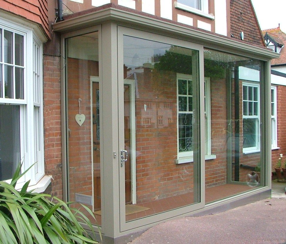 Huge aluminium sliding porch doors entrance porches for Back door sliding door