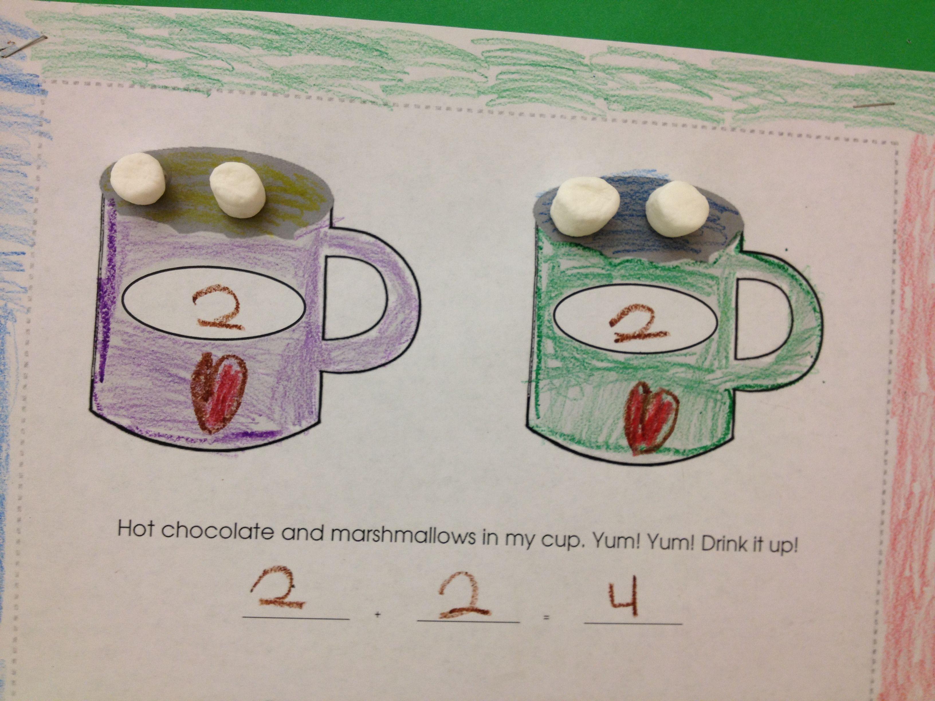 Cute Winter Math Activity Marshmallow Addition My Kids