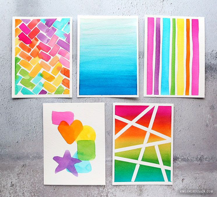 5 Super Easy Watercolor Backgrounds For Cards New Water Media From Waffle Flower Abstract Canvas Painting Simple Canvas Paintings Watercolor Background