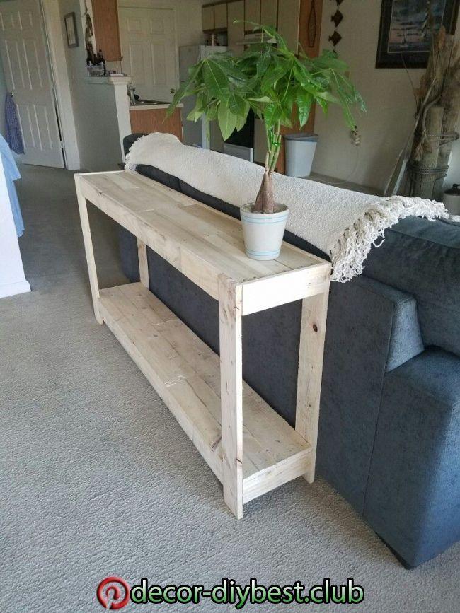 Diy Dekoration Diy Sofa Table