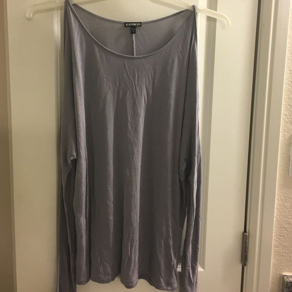 Long sleeve top with shoulder cut outs Cute long sleeve with shoulders exposed. Barely worn Express Tops Tees - Long Sleeve