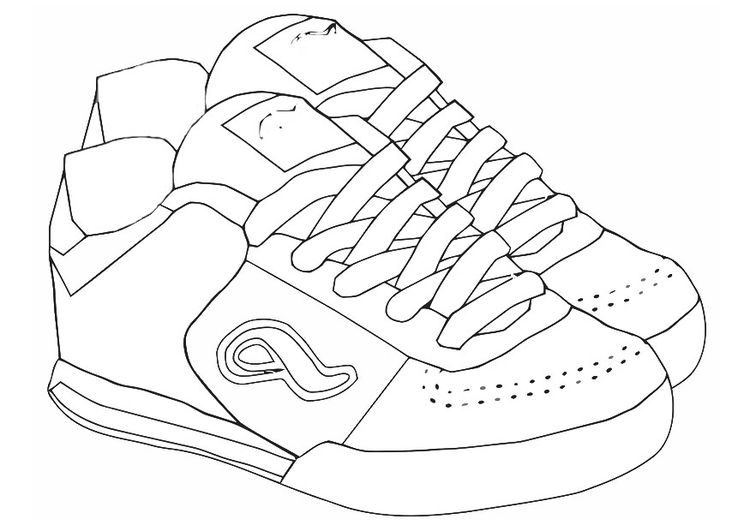 Coloring Page Sports Shoes Img 19418 Color Free Coloring Pages Coloring Pages