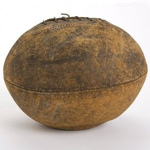 This Is The Oldest Football In Our Collection It Is Believed To Have Been Used In The Mid 1890s It Was On This Day College Soccer Rutgers Football Football