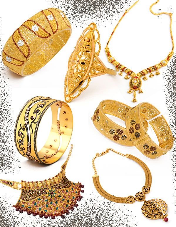 Al Haseena Jewellers gold brands - bangles, necklaces, rings