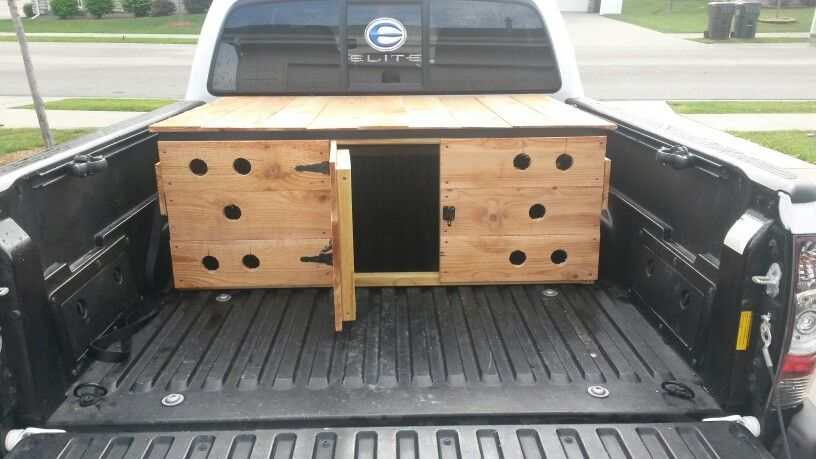 Superb 75 Dog Box For Small Truck Made From Cedar Fence Pickets Download Free Architecture Designs Rallybritishbridgeorg