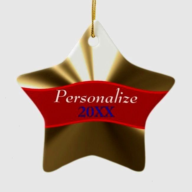 Star OrnamentPersonalized Gold Star Ornament Future EMT Ceramic Ornament I Love My PT Ceramic Ornament Funny Cool Godfathers  Five Star Godfather Ceramic Ornament A Star...