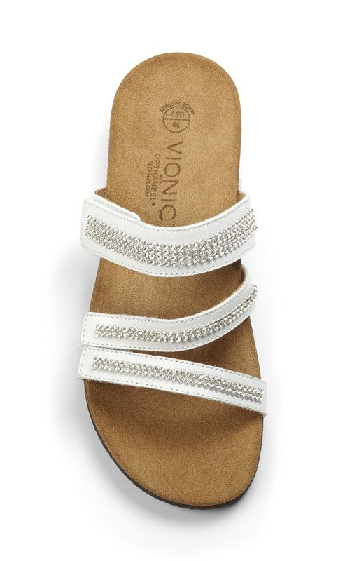 d3d3543fcb0d Vionic Afton Women s Slide - Made in Spain! This Euro-inspired slide sandal  features a cork footbed and orthotic arch support for all day comfort.