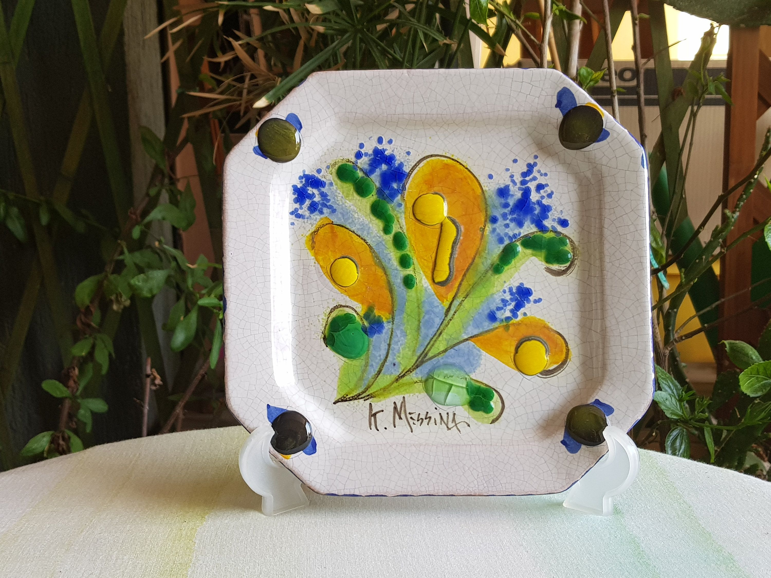 Come Appendere Piatti In Ceramica sicilian ceramic decorative dish ceramic plate to hang