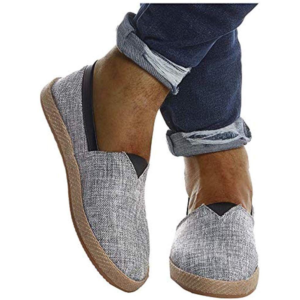 LEIF NELSON Herren Espadrilles Gestreifte Schuhe für
