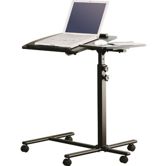 Portable Laptop Desk Cart Stand Mobile Adjustable Office Rolling Computer Table Portable Laptop Desk Laptop Desk For Bed Desk