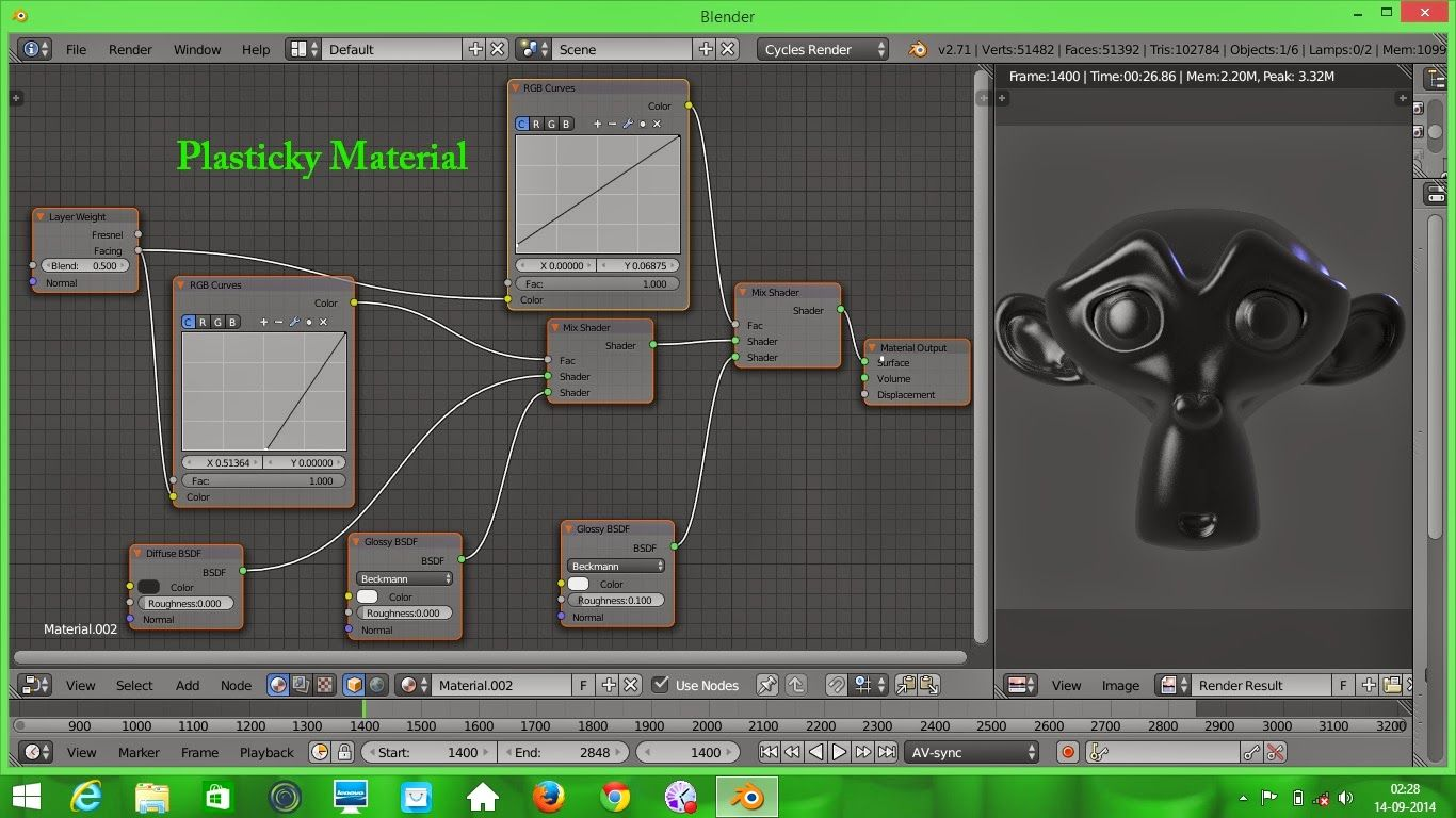 da50894ce8a 18 Blend: Plastic material node setup - Blender cycles | Blender 3D ...
