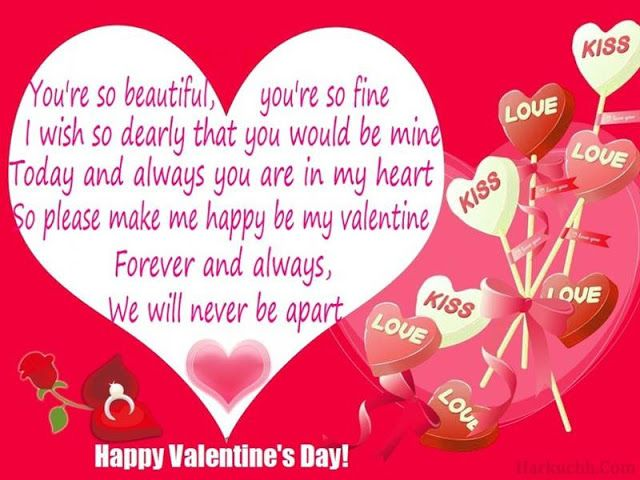 valentines day messages for her  Happy Valentine Day  Pinterest