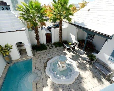 Tour 6 Alys Beach Homes In Florida Beach House Design Small Beach Houses Courtyard Pool