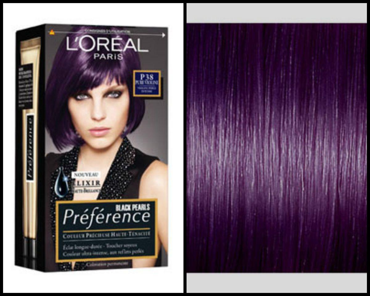 Couleur cheveux violet l'oreal