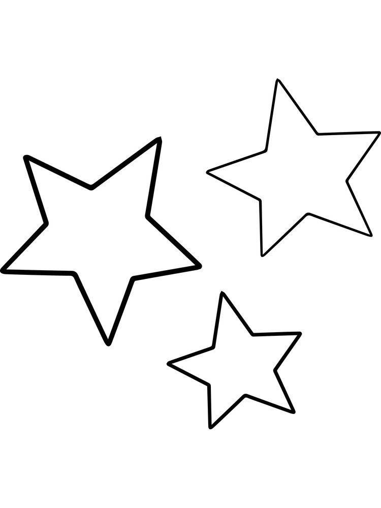 Big Stars Coloring Page Dengan Gambar