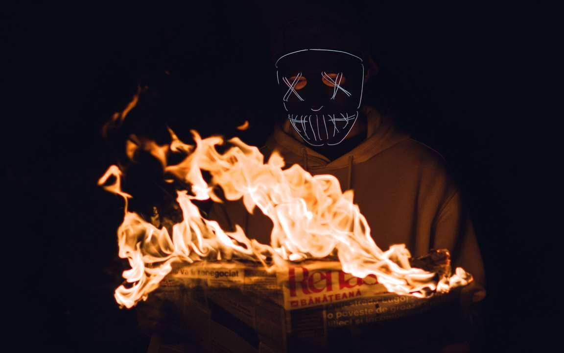 Download Wallpaper 3840x2400 Mask Newspaper Fire Man Dark 4k Ultra Hd 16 10 Hd Background Wallpaper Free Download Best Iphone Wallpapers Free Wallpaper