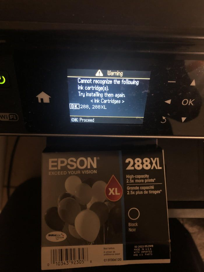 epson firmware update cannot find ink cartridge