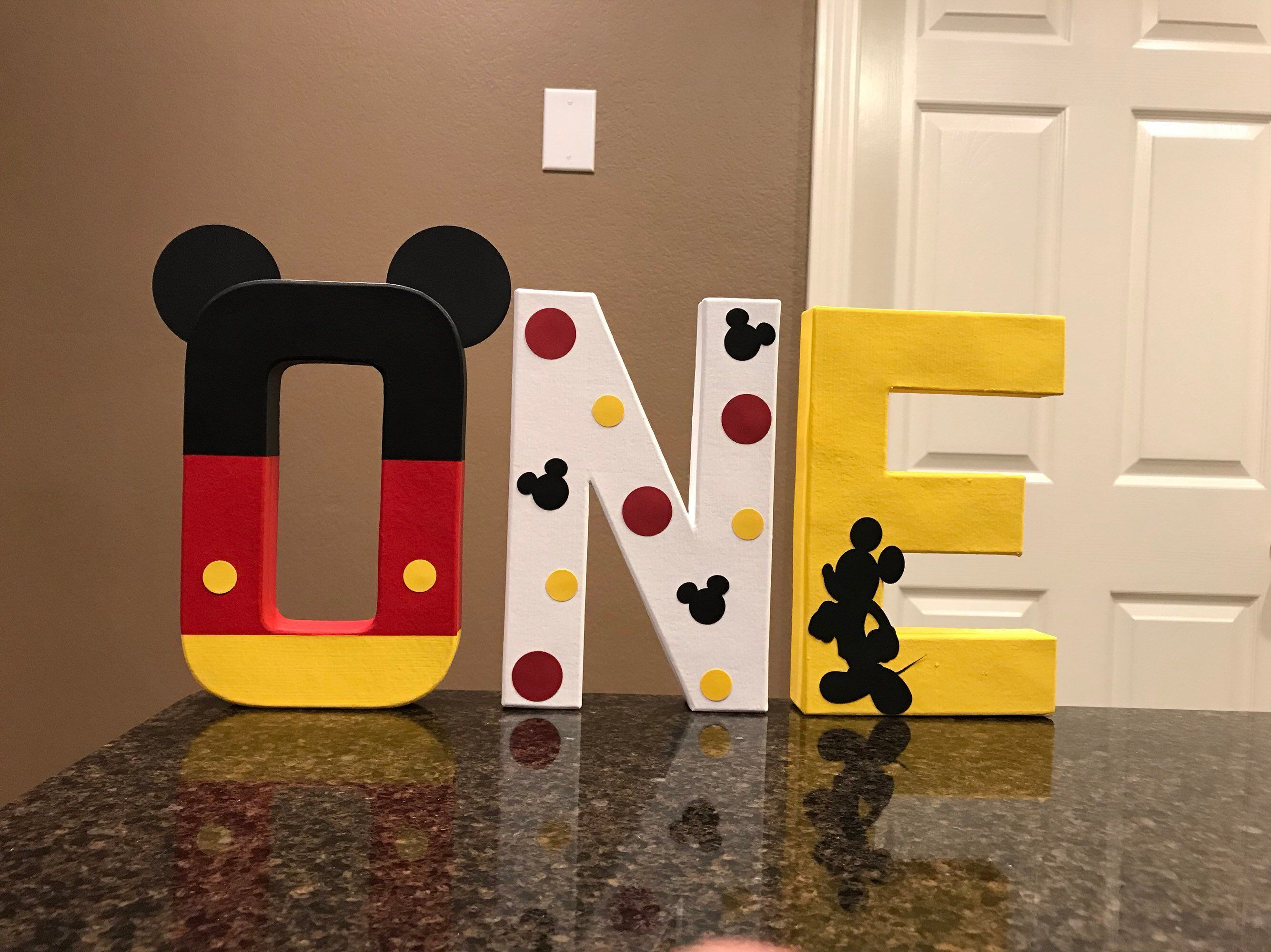 Mickey Mouse Custom Name Letters - price is per letter