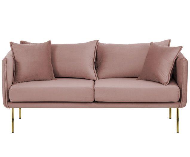 Divano In Velluto Ivy 2 Posti Sofa Furniture Pink Sofa