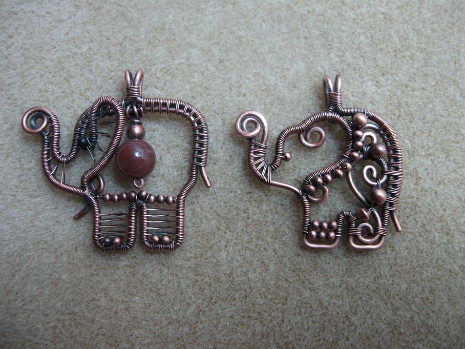 Myelephants pendant tutorials pinterest wire wrapping wraps my elephant wire wrapped pendants by eugenya aloadofball Gallery
