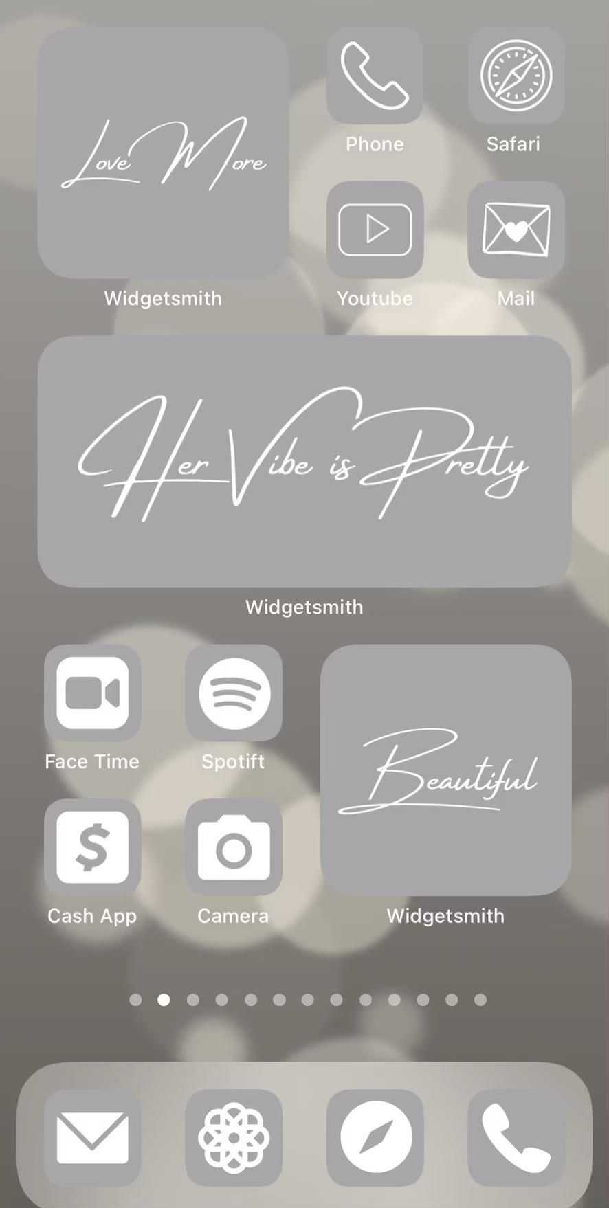 Grey aesthetic ios14 app icon covers