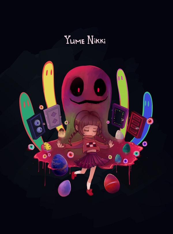 Yume Nikki By Dreaming Witch Deviantart Com On Deviantart Rpg Horror Games Nikki Indie Horror