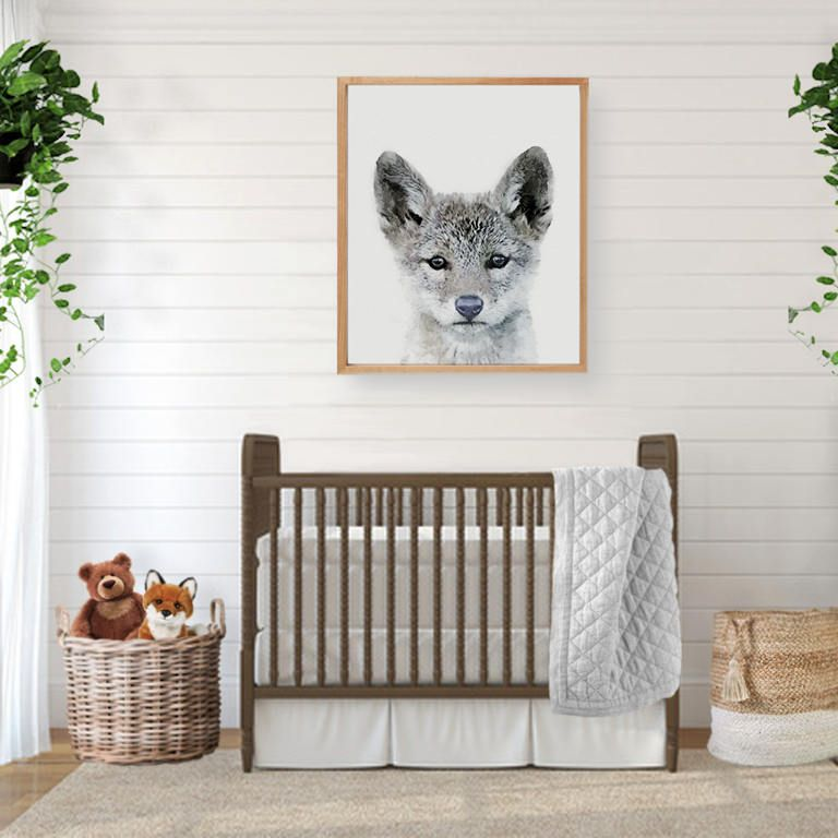 coyote print, coyote wall art, digital download, large poster