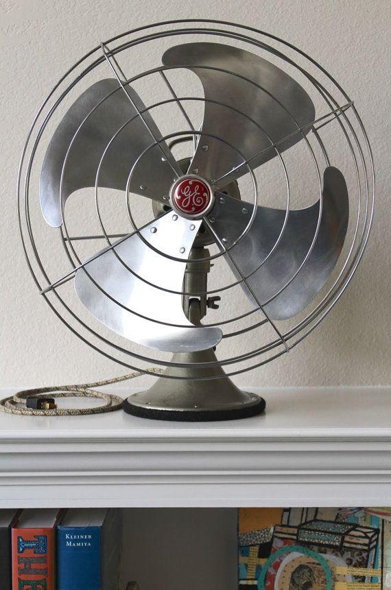 Restored 1950 General Electric Vortalex Fan Fm16v23 Vintage Fans General Electric Fan